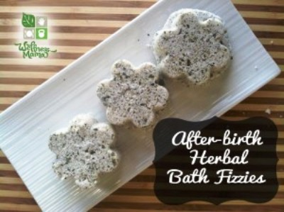 Homemade Bath Fizzies for the New Mom