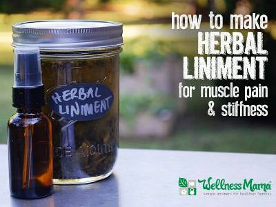 How To Make A Herbal Liniment For Muscle Pain & Stiffness