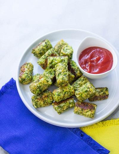 Healthy Baked Broccoli Tops