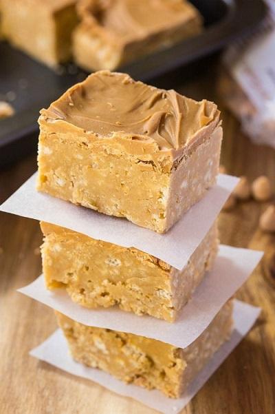 Homemade Peanut Butter Bars Recipe