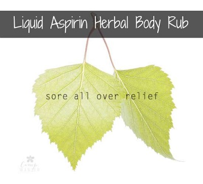 Liquid Aspirin Herbal Body Rub
