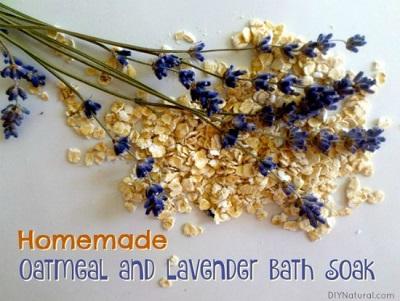 Homemade Lavender Oatmeal Bath Soak For Dry Skin
