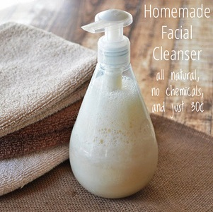 Homemade All-Natural Facial Cleanser For $0.30