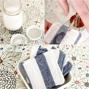 How To Make Reusable Cleaning Pads And Homemade Makeup Remover