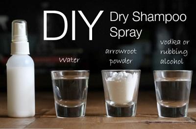 DIY Dry Shampoo Spray & Powder