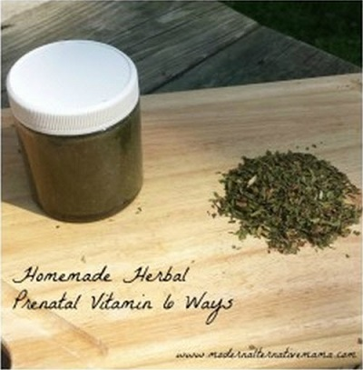 Homemade Herbal Prenatal Vitamin – 6 Ways