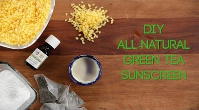 How to Make Green Tea Sunscreen