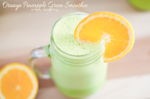 Orange Pineapple Green Smoothie