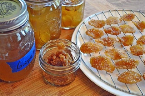 Candied Ginger and Ginger Syrup