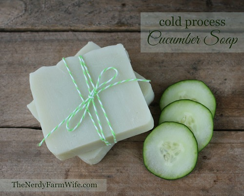 Cold Process Cucumber Soap