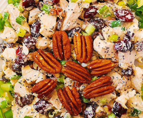 Cranberry Pecan Chicken Salad with Poppy Seed Dressing