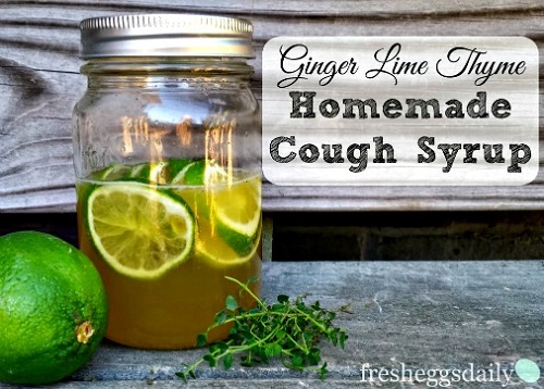 Homemade Ginger Lime Thyme Cough Syrup Recipe